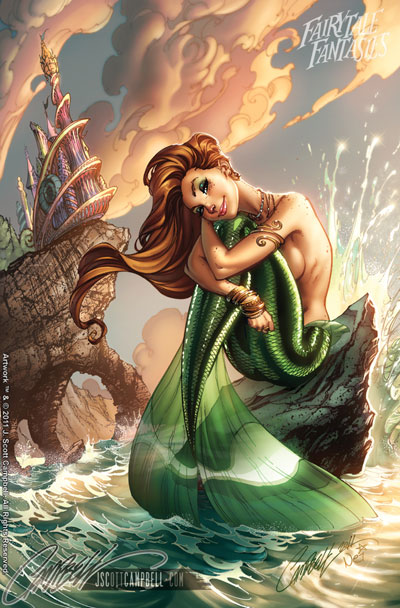 Princesses sexy disney jeff scott campbell artiste - Petite princesse disney ...