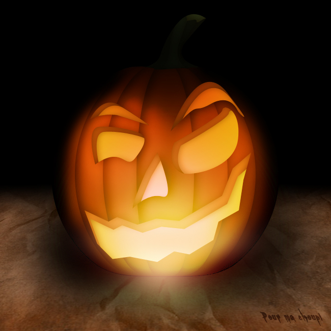 Citrouille halloween photoshop